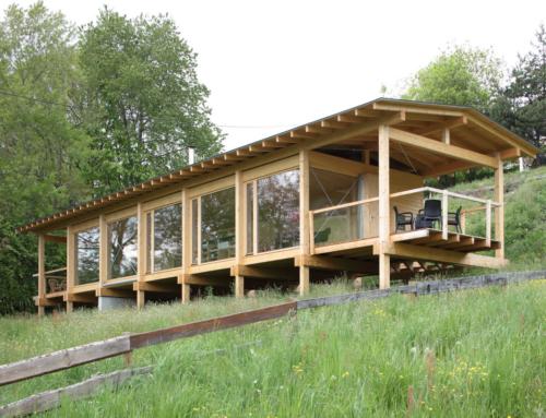 Haus in der Wiese