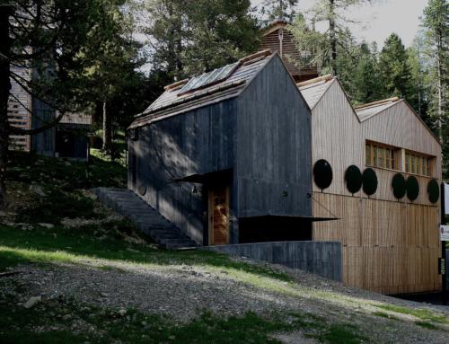 Häuser im Wald